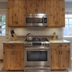 Kitchen remodeling with pine cabinets