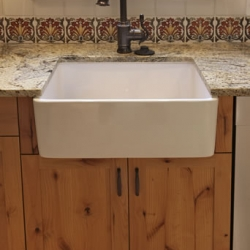 Kitchen remodeling with apron front sink