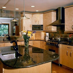 Kitchen remodeling with granite and stainless steel