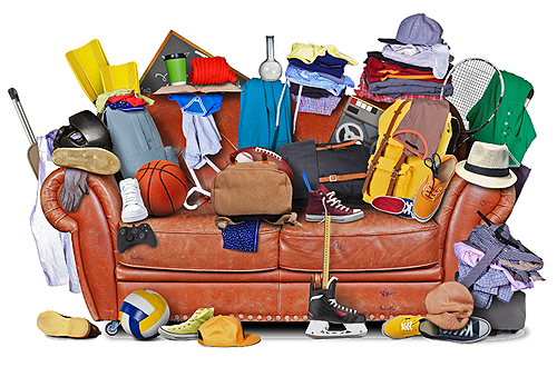 Photo of messy couch