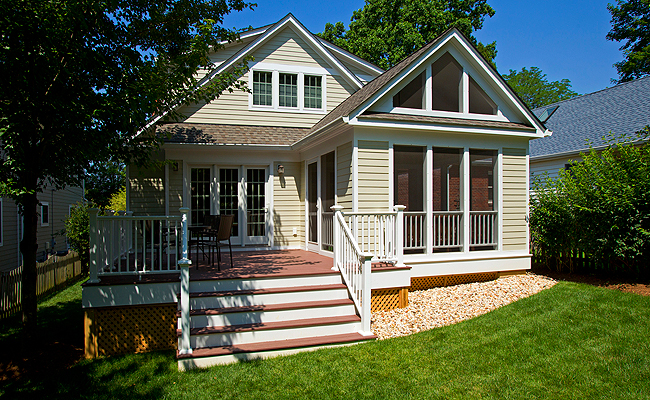 Screened porch and deck by Merrill Contracting
