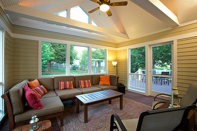 Screened porch by Merrill Contracting