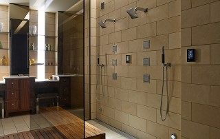 Universal Design steam shower by Kohler