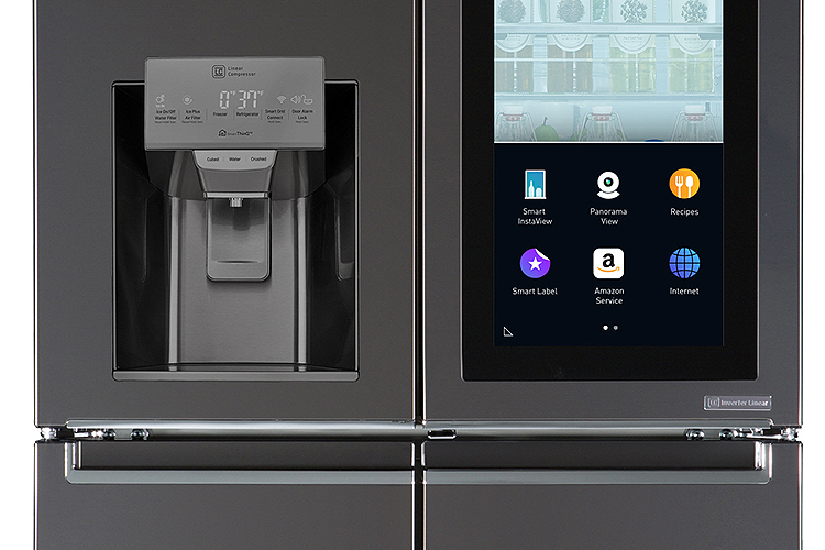 Close-up of LG Smart InstaView™ Refrigerator Doors