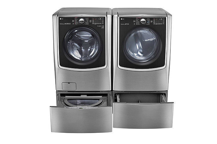 LG TWINWash™ front-load washer and dryer with LG SideKick™ pedestal washer