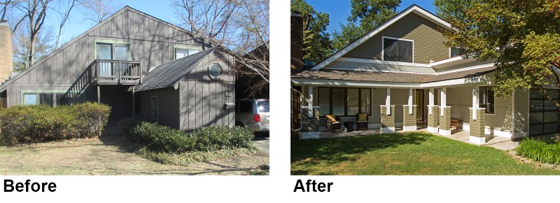 before and after exterior remodeling