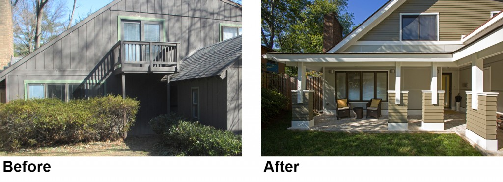 before & after remodeling photos of porch