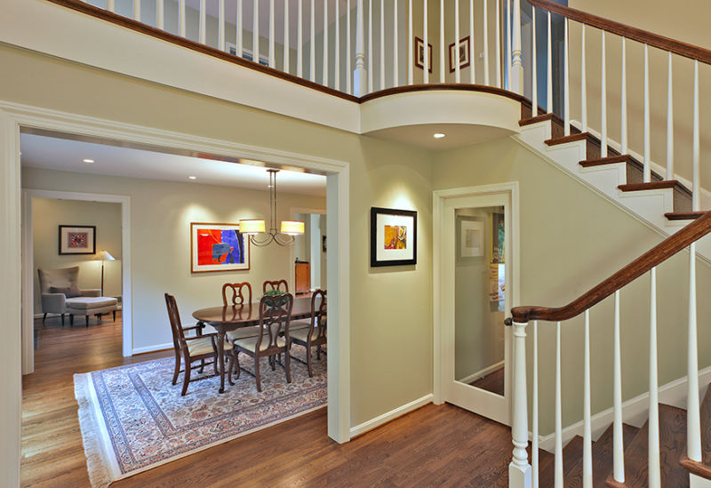 Example of whole-house remodeling: Entry and dining room photo