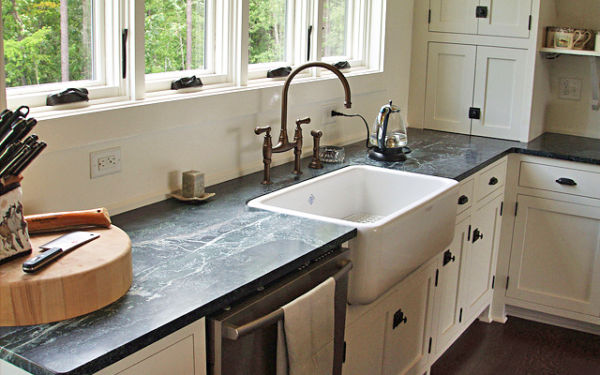 Soapstone counter material