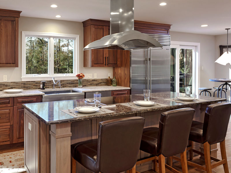 Custom kitchen by Merrill Contracting & Remodeling