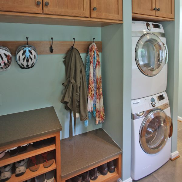 Organized laundry room mud room