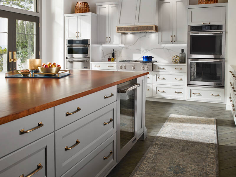 white kitchen in accessible home