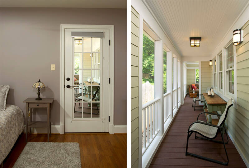 In-law suite with separate entrance to porch